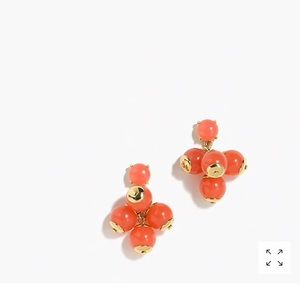 J. Crew Cluster Earrings- pale pink